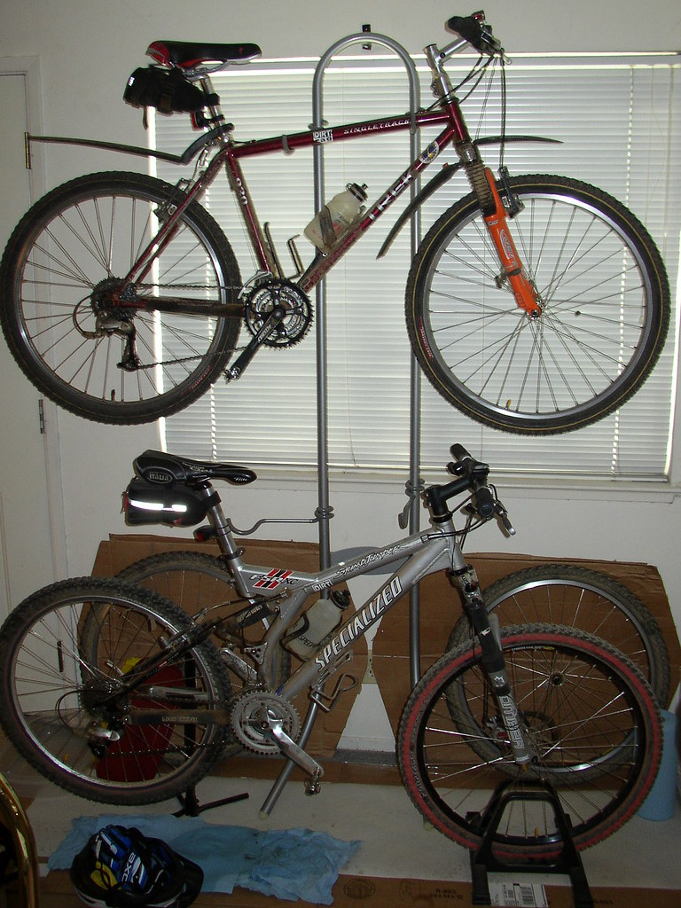 Mountain bike storage