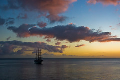 Caribbean sunset (Chrissie64) Tags: ocean light sunset sky seascape colour beautiful clouds boat scenery flickr sailing caribbean dominica caribbeansea sailingboat platinumphoto aplusphoto onlythebestare betterthangood theperfectphotographer