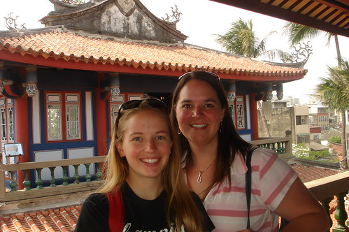 Julie and Me at Tainan's Chikan Tower