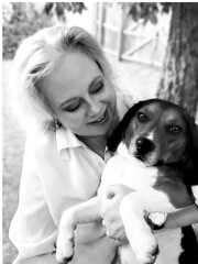 Faith Goble and Larry: Dog Day Afternoon (photo and poem) (faith goble) Tags: portrait woman dog art beagle puppy book artist poem photographer with bluegrass kentucky ky faith picture cover photograph larry creativecommons poet writer author soe dogdayafternoon tacomaartmuseum bowlinggreenky goble elementa firsthand sydneylumet bowllinggreen originalpoem therealwomanbeauty faithgoble poemandphotograph grafixer ccbyfaithgoble gographix flickrunitedaward heritage2011 faithgobleart thisisky