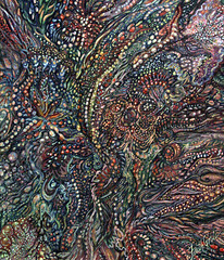The Heart of Things (painting and poem) (faith goble) Tags: color art painting beads artist acrylic poem photographer bluegrass kentucky ky faith feathers vivid canvas creativecommons poet writer dots obsidian tacomaartmuseum bowlinggreenky goble firsthand poetryandpicturesinternational bowllinggreen originalpoem faithgoble poemandpainting ganderpressreview grafixer ccbyfaithgoble gographix originalpainitingbyfaithgoble faithgobleart thisisky