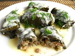 Dolmades (Stuffed Grape Leaves) (Kevin - Closet Cooking) Tags: food leaves greek stuffed grape dolmades