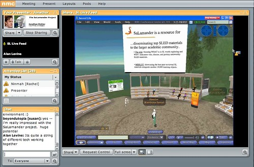 Streaming Second Life into Connect