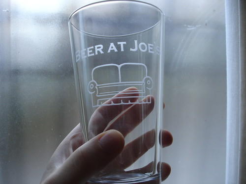 Beer at Joe's Pint Glass