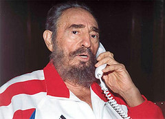 Fidel on phone