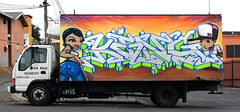 Mes, King157 (funkandjazz) Tags: california truck graffiti oakland king characters eastbay mes tmf tdk king157 twb mesngr