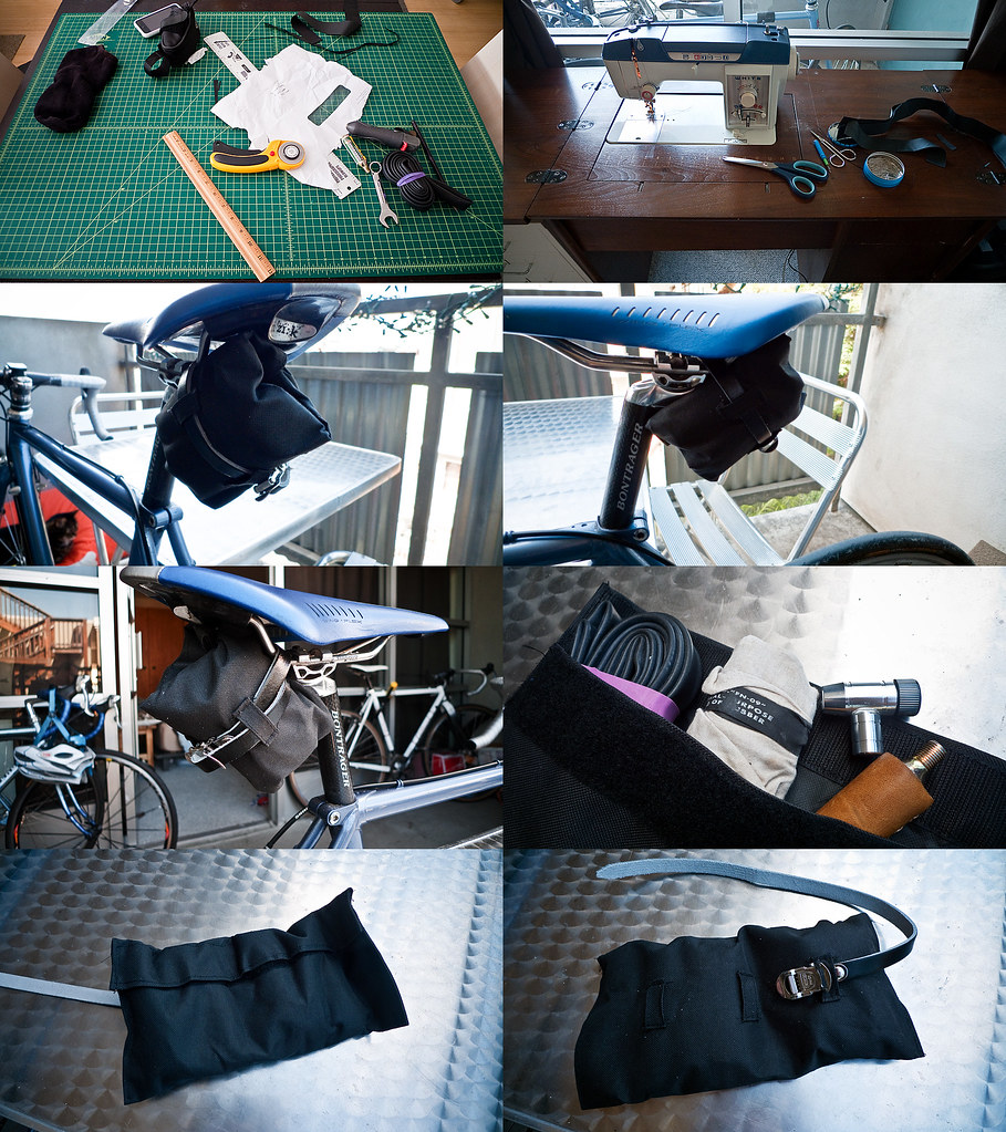 DIY Seat Bag / Tool Roll Up