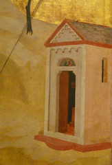 Giotto, St. Francis of Assisi Receiving the Stigmata, c. 1295-1300 with detail of building