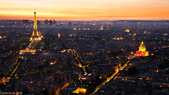 (Diederik de Regt) Tags: nightphotography sunset paris france tower night canon de photography eos is high long exposure tour view eiffeltower eiffel invalides 200 meter usm 1785 montparnasse efs parijs 450d
