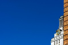 just around the corner (xgray) Tags: blue sky brick tower digital upload canon austin eos prime university texas bricks 85mm rental clocktower universityoftexas iphoto mainbuilding thetower ef85mmf18 40d waggenerhall ziplens postedtophotographersonlj xgrayvision2007