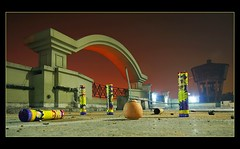 fun ends :-( (Soumya Bandyopadhyay) Tags: longexposure fun arch dof terrace low perspective burnt end diwali kolkata leftover crackers canoneosdigitalrebelxt sigma1020mm jadavpur aplusphoto