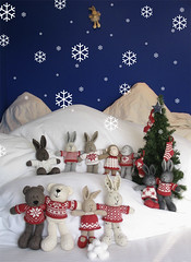 snowscene (littlecottonrabbits) Tags: christmas winter snow animal toy knitting handmade softies nordic knitted stuffies ohholynight littlecottonrabbits ayearofholidays