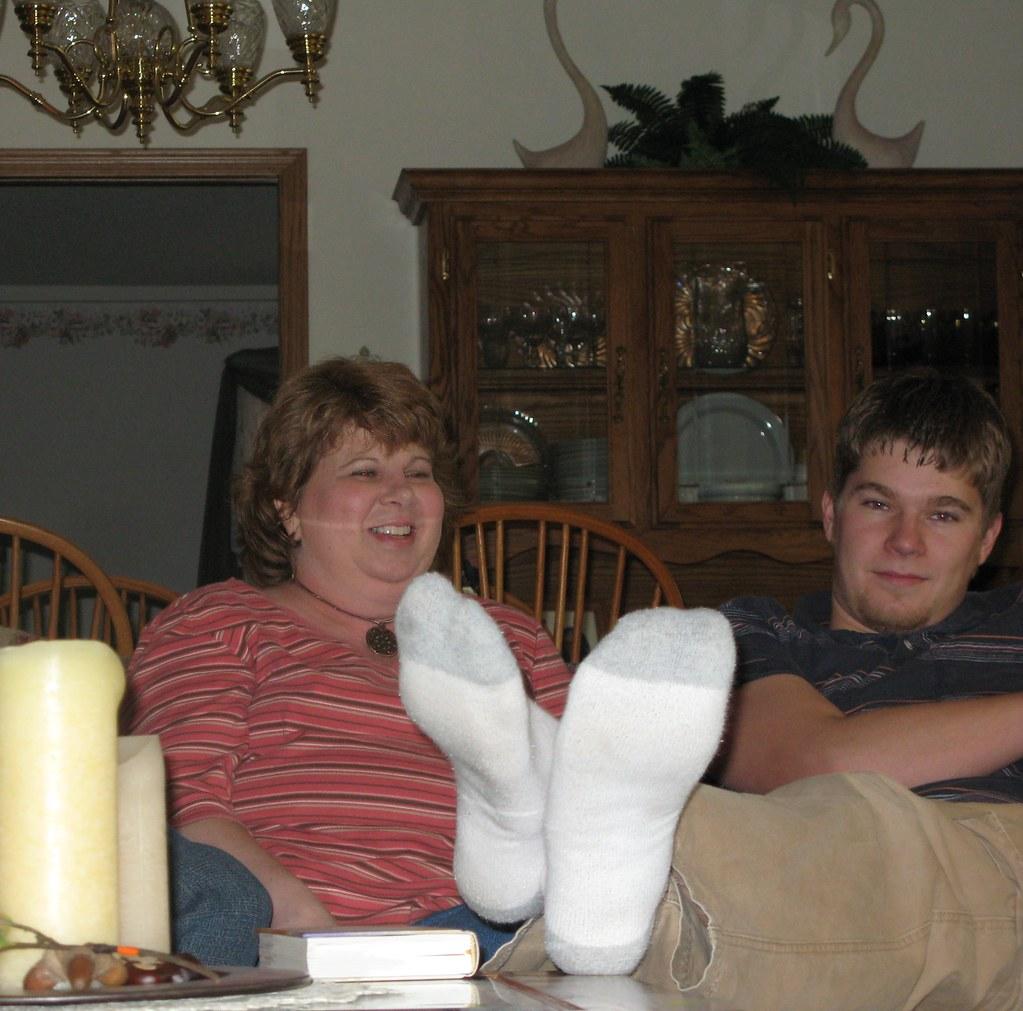 Feet on Coffee Table!