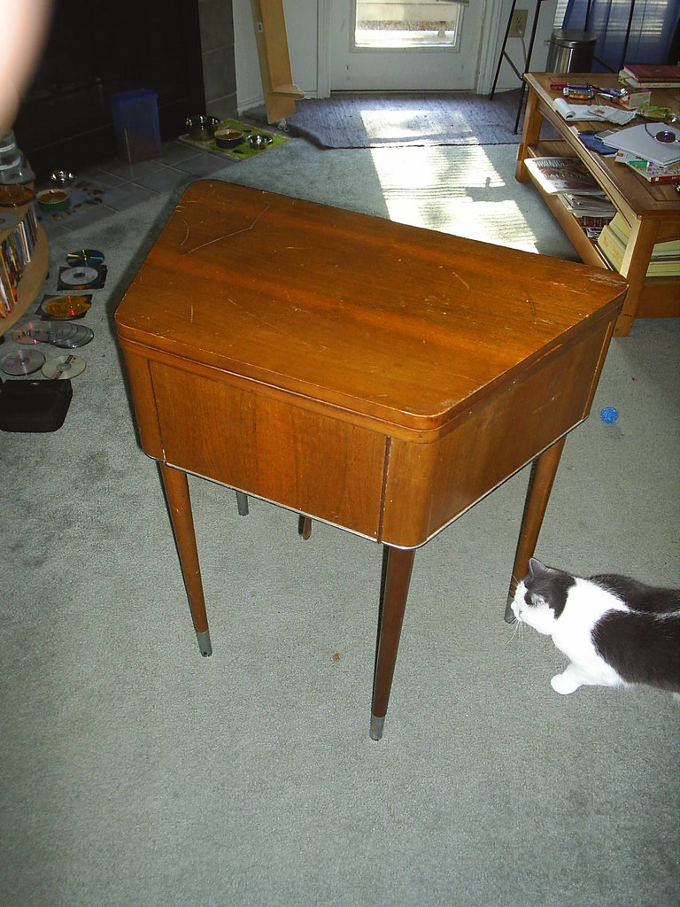 The cool old sewing console