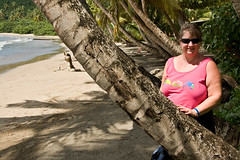 Debbie at La Sagesse Beach (SunCat) Tags: travel vacation woman friend girlfriend all bbw spouse grenada wife caribbean debbie sweetheart lover mate companion soulmate 2007 confidante lasagesse so