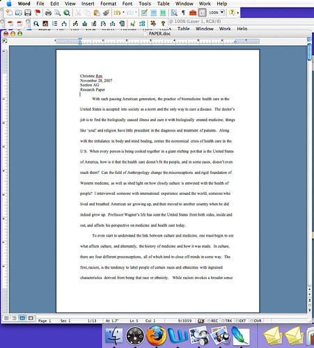 what do double spaced essays look like
