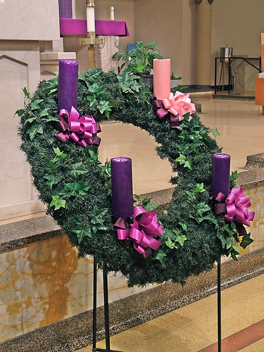Saint Mary Magdalen Roman Catholic Church, in Saint Louis, Missouri, USA - advent wreath.jpg