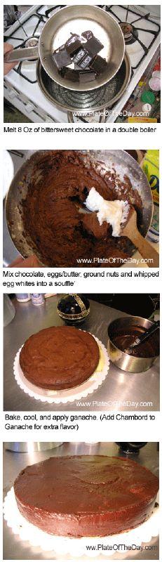 reine de saba, chocolate torte