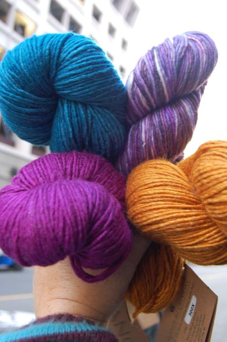 Fist full of Manos wool silk blend