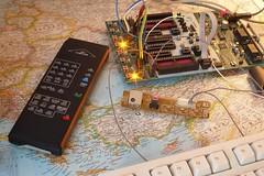 Infrared remote control receiver for Arduino (5Volt) Tags: sketch diy software infrared remotecontrol avr arduino atmel rc5 stk500 atmega128 attiny24