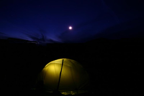 Night scenes in the camp...