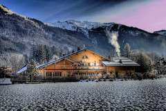 HDR Chalet (* Thierry *) Tags: wood blue trees winter light sky mountain snow home frost chalet 2008 hdr winterlandscape mountainlandscape winterscene mountainscene 10faves chlet abigfave anawesomeshot chaletofmountain chletdemontagne