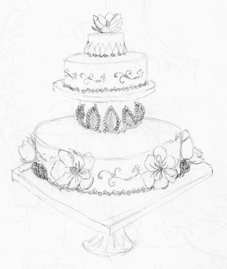 my sketch of CIA cake