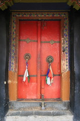 Door, Ladakh, India (E. B. Sylvester) Tags: door orange india color culture himalaya ladakh inde monastry ebsylvester