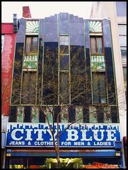 City Blue and Random Art Deco (Harpo42) Tags: building green art philadelphia retail store chestnut artdeco philly 11th ornate 12th cityblue