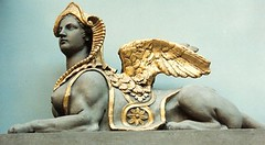 Sphinx at the V&A (jrozwado) Tags: uk england london art sphinx museum greek design europe va victoriaandalbertmuseum decorativearts