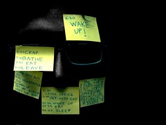I, Robot (fatmanwalking) Tags: portrait art face yellow dark robot postit software postitnotes engineer irobot timetable willsmith selectivecolour asmiov