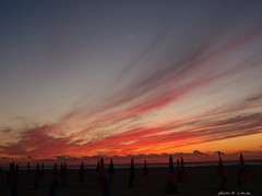 ... when nature is painting ... (Christina@cmm...(OFF)) Tags: sunset red sky france beach colors clouds evening holidays colours september deauville sunshades naturesfinest blueribbonwinner abigfave platinumphoto anawesomeshot goldstaraward