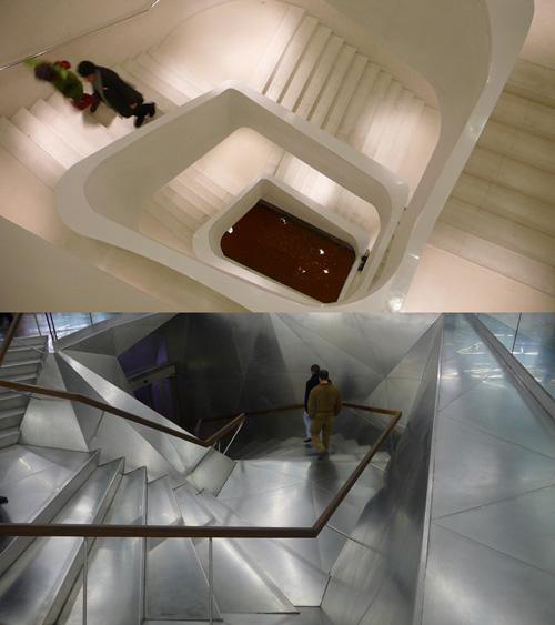 Escaleras en el Caixaforum, Herzog & de Meuron