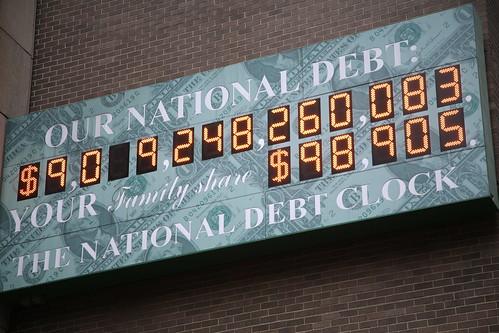 schuldenuhr vor der krise
