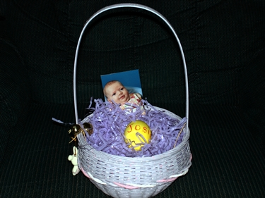 Josie's basket and egg