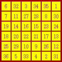 sun magic square