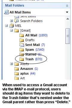 IMAPoutlookGmail