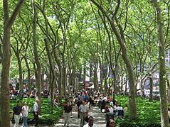 Bryant Park (photo Bryant Park Restoration Corporation)