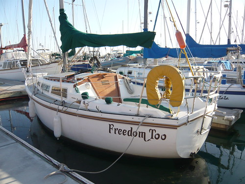 Freedom Too, a slightly aged but nicely rigged Catalina 27