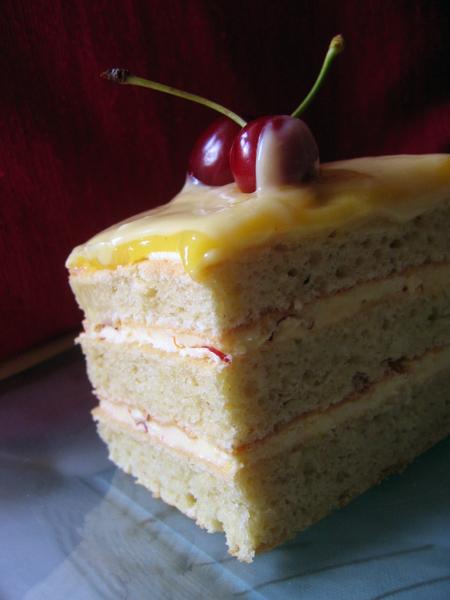 Safron & Almond Opera Cake