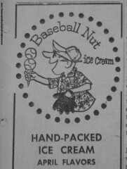 31 Flavors Baskin Robbins Baseball Nut ice cream character (Dying In Downey) Tags: ice michael baseball character cream nut 31 baskin robbins flavors poulin basken