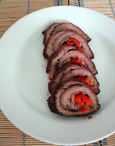 Rolled flank steak