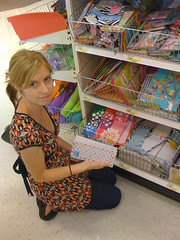 Mona organizing her items at Target's One Spot