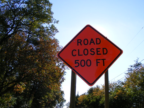 'Road Closed 500 Ft'