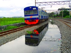 KRL Benteng Ekspres @ Kampung Bandan Station (chris railway) Tags: reflection station train indonesia tren eisenbahn railway zug jakarta bahn ka spoor treinen ferrocarril ferrovia gleis treni spoorweg makina  ferroviaria krl   chemindefer  tangerang pocig       lokomotywa   demiryolu keretaapi jakartakota  trainphotography  ngst  kampungbandan  tuho     oto bentengekspres   umayxela sidulich  eisenbahnzgen   kolejowych ferrovipathe ferrovira fotografiaferrovira