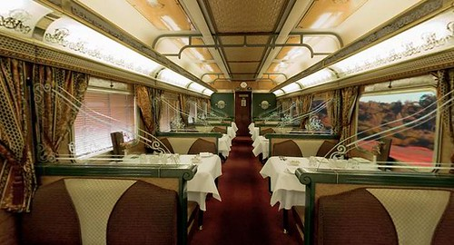 The Ghan - restaurant car