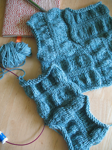 Seersucker Afghan Squares in progress