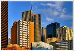 Dallas Sky (Justin Terveen) Tags: street city panorama building skyline architecture landscape dallas downtown cityscape texas perspective panoramic structure uptown fabric exploration streetscape ninjatune 511 swivel justinterveen wwwtheurbanfabriccom theurbanfabric urbanfabricphotography