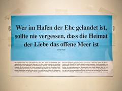 Hafen der Ehe (Daniel Gasienica) Tags: germany dresden poem events hafen ehe deutschetelekom spruch studiaustausch anekdote invitedby zoomit:id=sdd zoomit:base16id=736464