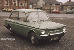 My Mum's old Hillman Imp! (Lady Wulfrun) Tags: green car 1967 coventry 1970s 1977 imp sunbeam hillman climax rootes lvt492e